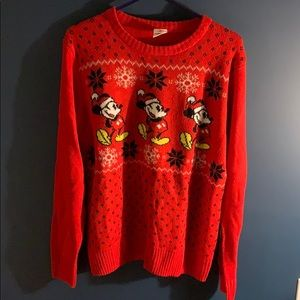 Mickey Mouse holiday sweater size M